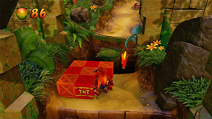 While in the jungle, you must watch out in places with TNT chests - an unwise attack might detonate them too early - Rolling Stones | N. Sanity Island | Levels - Crash Bandicoot - N. Sanity Island - Crash Bandicoot N. Sane Trilogy Game Guide