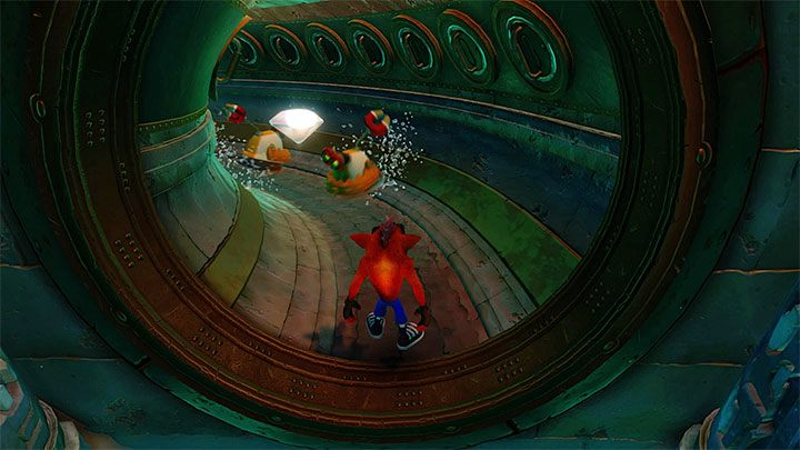 In the next location, use one more platform and reach the first checkpoint - Sewer or Later | Crash Bandicoot 2 | Levels - Crash Bandicoot 2 - Sewer Warp Room - Crash Bandicoot N. Sane Trilogy Game Guide