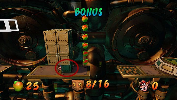 After you have returned to the main part of the sewer, move on and smash wooden crates as you go - Sewer or Later | Crash Bandicoot 2 | Levels - Crash Bandicoot 2 - Sewer Warp Room - Crash Bandicoot N. Sane Trilogy Game Guide