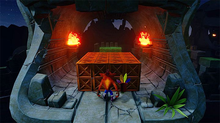 After you cross the portal, jump on the poles - Road to Ruin | Crash Bandicoot 2 | Levels - Crash Bandicoot 2 - Sewer Warp Room - Crash Bandicoot N. Sane Trilogy Game Guide