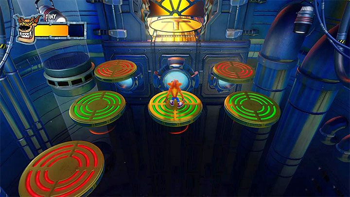 This fight takes place on nine floating platforms - Tiny Tricked | Crash Bandicoot 2 Trophy Guide - Crash Bandicoot 2: Cortex Strikes Back - Crash Bandicoot N. Sane Trilogy Game Guide