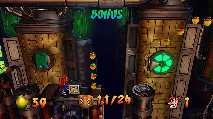 When you are on your way you can take a look at the hole presented in the picture 1 - Piston It Away | Crash Bandicoot 2 | Levels - Crash Bandicoot 2 - High-Tech Warp Room - Crash Bandicoot N. Sane Trilogy Game Guide