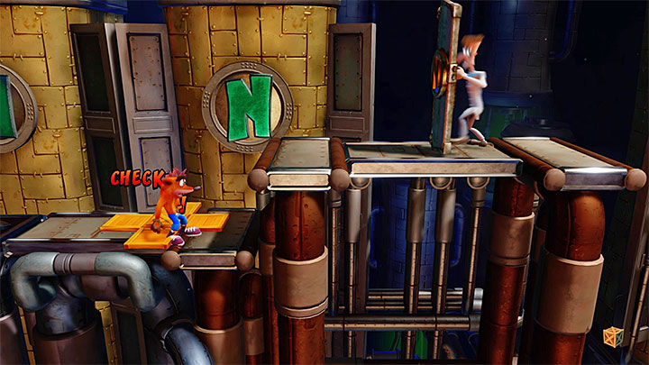 3 - Piston It Away | Crash Bandicoot 2 | Levels - Crash Bandicoot 2 - High-Tech Warp Room - Crash Bandicoot N. Sane Trilogy Game Guide