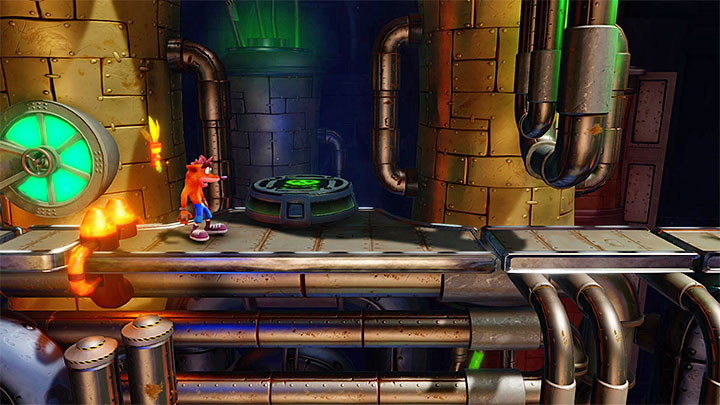 4 - Piston It Away | Crash Bandicoot 2 | Levels - Crash Bandicoot 2 - High-Tech Warp Room - Crash Bandicoot N. Sane Trilogy Game Guide