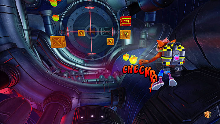 When you equip the jet pack you can start your flight (R2 allows you to fly forward and L2 is used for turning back, e - Rock It | Crash Bandicoot 2 | Levels - Crash Bandicoot 2 - High-Tech Warp Room - Crash Bandicoot N. Sane Trilogy Game Guide