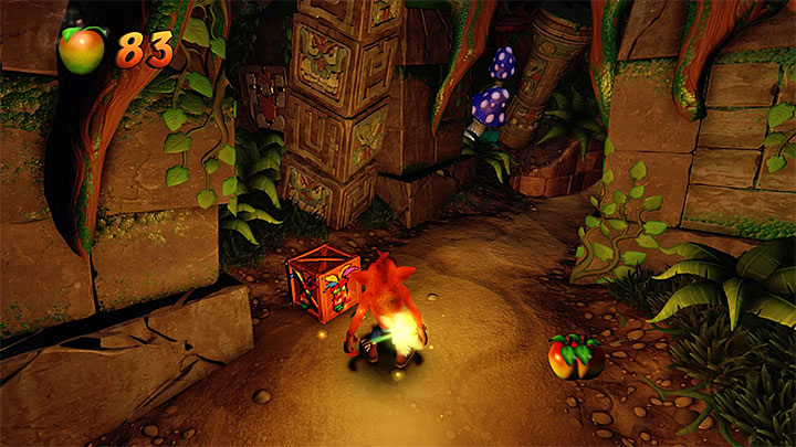 As it was mentioned above, in this level you must use encountered fireflies - Night Fight | Crash Bandicoot 2 | Levels - Crash Bandicoot 2 - High-Tech Warp Room - Crash Bandicoot N. Sane Trilogy Game Guide