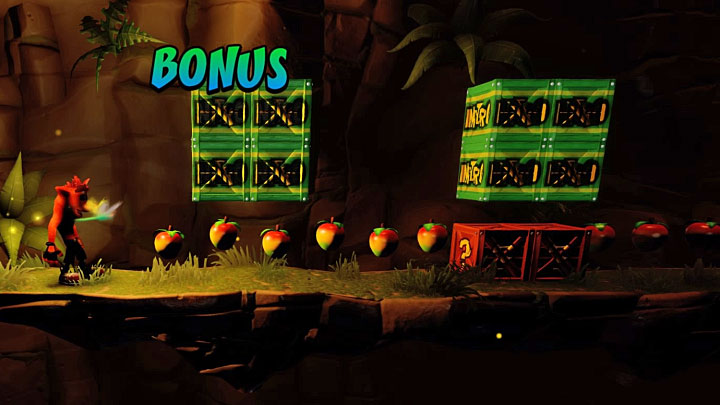 When you return on the main path in this level you must reach the fork again, the one where you started the Death Route - Night Fight | Crash Bandicoot 2 | Levels - Crash Bandicoot 2 - High-Tech Warp Room - Crash Bandicoot N. Sane Trilogy Game Guide