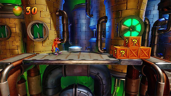 You quickly reach the place presented in the picture - Spaced Out | Crash Bandicoot 2 | Levels - Crash Bandicoot 2 - High-Tech Warp Room - Crash Bandicoot N. Sane Trilogy Game Guide