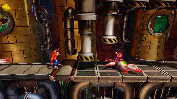 Explore areas right from the place where you moved to the first secret location - Spaced Out | Crash Bandicoot 2 | Levels - Crash Bandicoot 2 - High-Tech Warp Room - Crash Bandicoot N. Sane Trilogy Game Guide