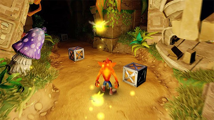 The final part of the said level, shown in the picture above, is the hardest - Totally Fly | Crash Bandicoot 2 | Levels - Crash Bandicoot 2 - Secret levels - Crash Bandicoot N. Sane Trilogy Game Guide