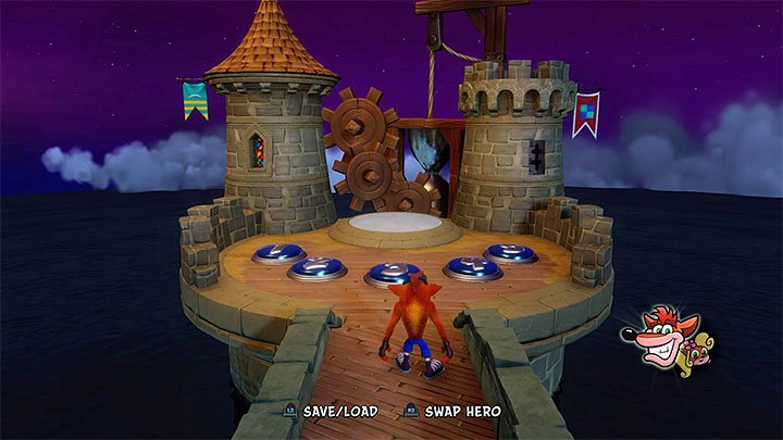 The area with first five portals - Medieval location | Crash Bandicoot 3 | Levels - Crash Bandicoot 3 - Medieval location - Crash Bandicoot N. Sane Trilogy Game Guide