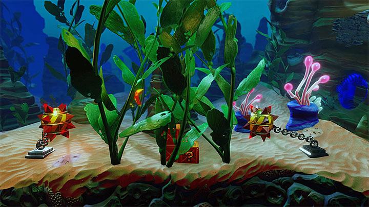 Start swimming right and from the beginning of the level you should try to find and destroy crates that are placed in various places on the bottom - Under Pressure | Crash Bandicoot 3 | Levels - Crash Bandicoot 3 - Medieval location - Crash Bandicoot N. Sane Trilogy Game Guide