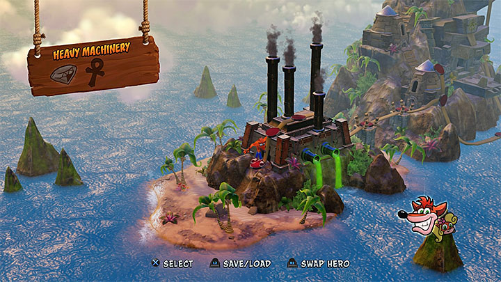 Cortex Island view - Crash Bandicoot - Cortex Island - Island description - Crash Bandicoot - Cortex Island - Crash Bandicoot N. Sane Trilogy Game Guide