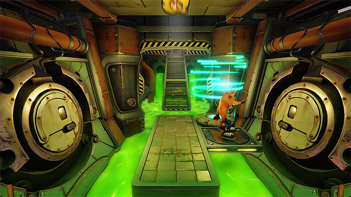 Continue your exploration and eliminate barrel-tossing opponents - Toxic Waste | Cortex Island | Levels - Crash Bandicoot - Cortex Island - Crash Bandicoot N. Sane Trilogy Game Guide