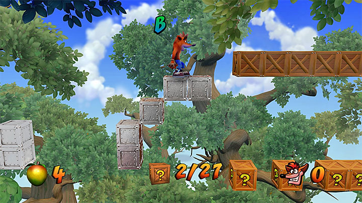 Continue along the path and find Tawnas second token, by th next checkpoint - The High Road | Cortex Island | Levels - Crash Bandicoot - Cortex Island - Crash Bandicoot N. Sane Trilogy Game Guide