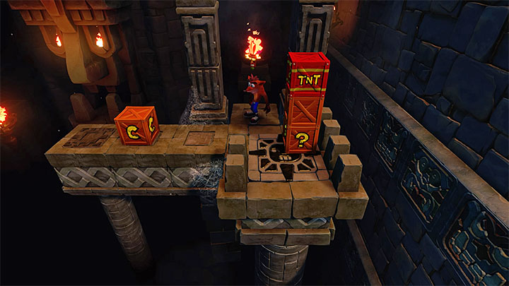 You should be familiar with attractions served in this stage, because you have already been to dark ruins earlier in the game - Jaws of Darkness | Cortex Island | Levels - Crash Bandicoot - Cortex Island - Crash Bandicoot N. Sane Trilogy Game Guide