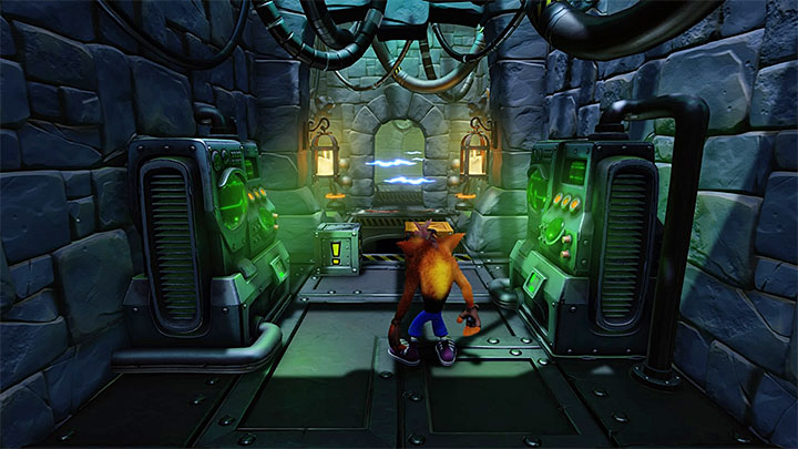 Start by hitting the metal chest - The Lab | Cortex Island | Levels - Crash Bandicoot - Cortex Island - Crash Bandicoot N. Sane Trilogy Game Guide