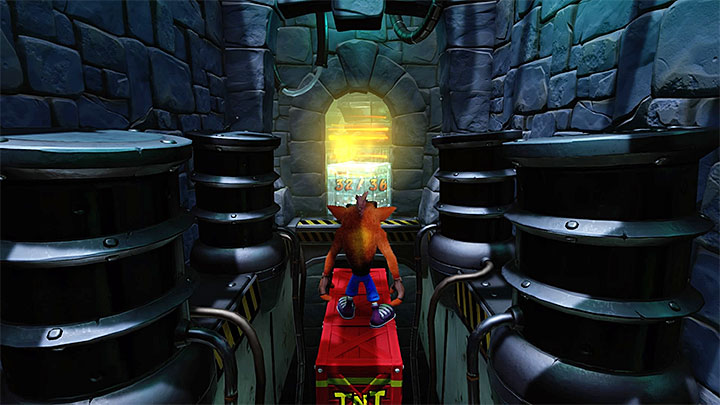 Between you and the portal that ends this level there is only one room with traps - The Lab | Cortex Island | Levels - Crash Bandicoot - Cortex Island - Crash Bandicoot N. Sane Trilogy Game Guide