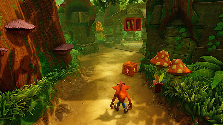 Follow the path ahead and destroy encountered chests - Prologue | Crash Bandicoot 2 | Levels - Crash Bandicoot 2 - Jungle Warp Room - Crash Bandicoot N. Sane Trilogy Game Guide