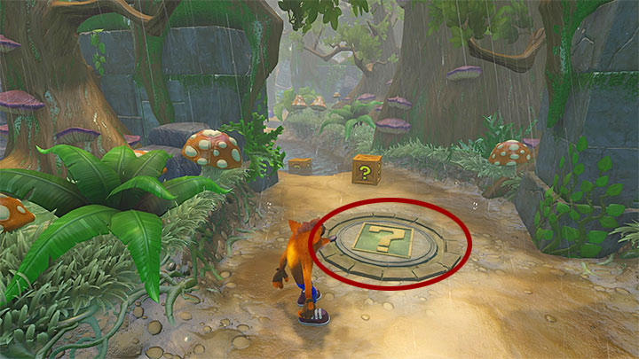 Once youre back to the main area, follow the main path and get past or eliminate the turtles ahead - Turtle Woods | Crash Bandicoot 2 | Levels - Crash Bandicoot 2 - Jungle Warp Room - Crash Bandicoot N. Sane Trilogy Game Guide