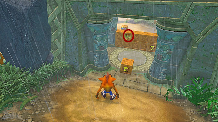 If you are aiming to score the blue gem (awarded for leaving out all chests), you cannot destroy any of the chests that form the wall which blocks the way to the exit portal - Turtle Woods | Crash Bandicoot 2 | Levels - Crash Bandicoot 2 - Jungle Warp Room - Crash Bandicoot N. Sane Trilogy Game Guide