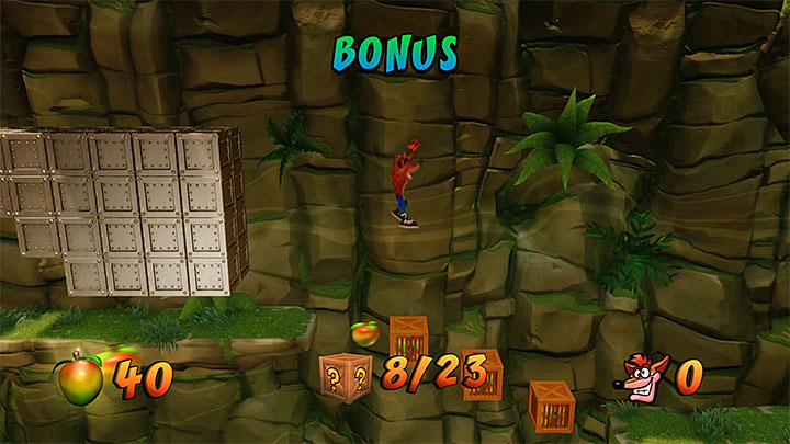 Step on the bonus plate - The Pits | Crash Bandicoot 2 | Levels - Crash Bandicoot 2 - Jungle Warp Room - Crash Bandicoot N. Sane Trilogy Game Guide