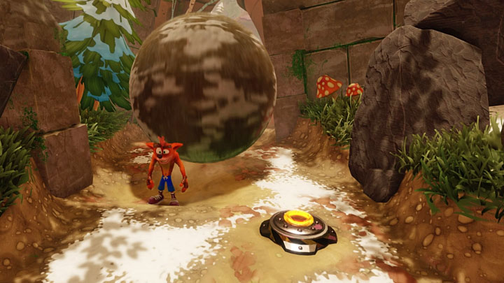 The escape sequence begins shortly after emerging from the portal - Crash Dash | Crash Bandicoot 2 | Levels - Crash Bandicoot 2 - Jungle Warp Room - Crash Bandicoot N. Sane Trilogy Game Guide