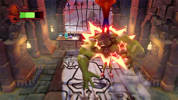 Jump on the head of the mutated Nitrus - Dr. Nitrus Brio | Boss Fights in Crash Bandicoot - Crash Bandicoot - Crash Bandicoot N. Sane Trilogy Game Guide