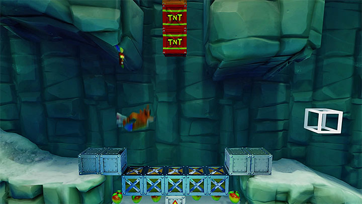 If you have obtained the red gem in Snow Go, soon you will be able to take the red platform shown in screenshot 1, which will take you to a secret stage - Snow Biz | Crash Bandicoot 2 | Levels - Crash Bandicoot 2 - Ice Warp Room - Crash Bandicoot N. Sane Trilogy Game Guide