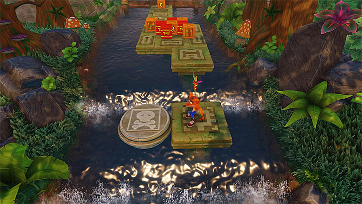 After you have finished the bonus round, head up the river - Air Crash | Crash Bandicoot 2 | Levels - Crash Bandicoot 2 - Ice Warp Room - Crash Bandicoot N. Sane Trilogy Game Guide