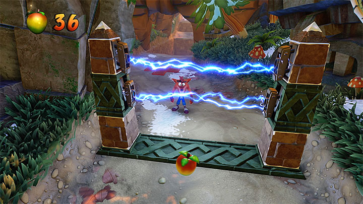 The first escape from the stone will start right after you leave the starting tunnel - Crash Crush | Crash Bandicoot 2 | Levels - Crash Bandicoot 2 - Ice Warp Room - Crash Bandicoot N. Sane Trilogy Game Guide