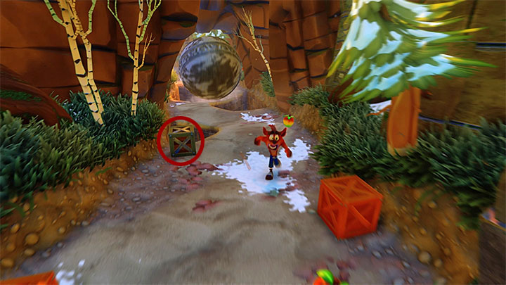 After you return to the main path, start running and collect the violet crystal from the left side of the screen - Crash Crush | Crash Bandicoot 2 | Levels - Crash Bandicoot 2 - Ice Warp Room - Crash Bandicoot N. Sane Trilogy Game Guide
