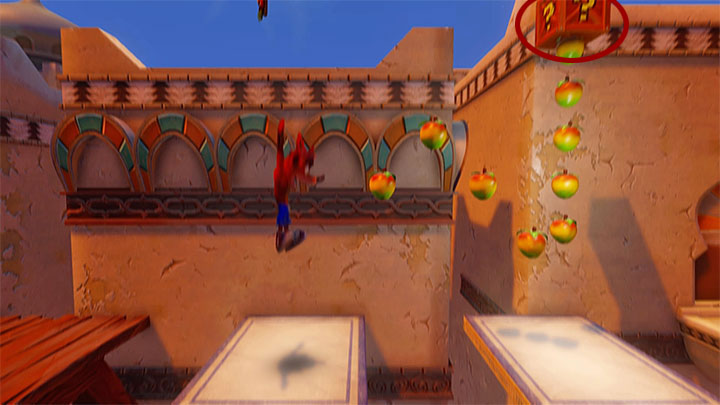 Head right and eliminate one more opponent on the flying carpet - Hang Em High | Crash Bandicoot 3 | Levels - Crash Bandicoot 3 - Arabic location - Crash Bandicoot N. Sane Trilogy Game Guide