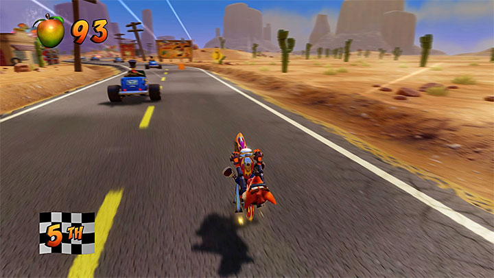 From the very beginning of the stage, keep an eye out for destructible crates in the distance - Hog Ride | Crash Bandicoot 3 | Levels - Crash Bandicoot 3 - Arabic location - Crash Bandicoot N. Sane Trilogy Game Guide
