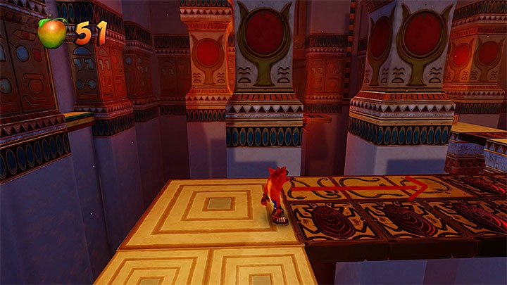 Take a slide to eliminate the first cobra and head towards the tomb entrance - Tomb Time | Crash Bandicoot 3 | Levels - Crash Bandicoot 3 - Arabic location - Crash Bandicoot N. Sane Trilogy Game Guide