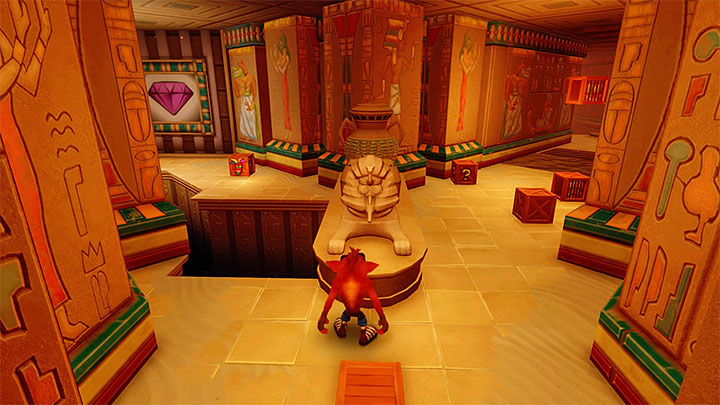 You will approach the fork shown in the above screenshot - Tomb Time | Crash Bandicoot 3 | Levels - Crash Bandicoot 3 - Arabic location - Crash Bandicoot N. Sane Trilogy Game Guide