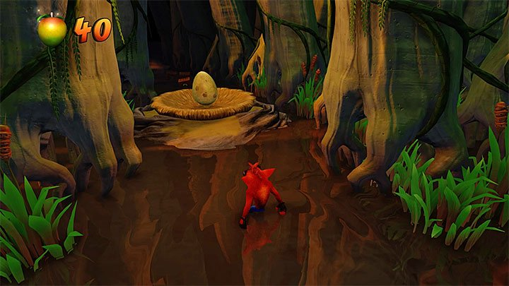 The main path, available during your first playthrough of this level, leads further into swamps - Dino Might! | Crash Bandicoot 3 | Levels - Crash Bandicoot 3 - Oriental location - Crash Bandicoot N. Sane Trilogy Game Guide