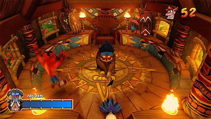 Run or jump away from the place where Papu Papu intends to hit the ground - Papu Popped | Crash Bandicoot Trophy Guide - Crash Bandicoot - Crash Bandicoot N. Sane Trilogy Game Guide