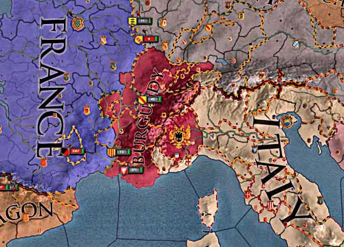 Owner of the Burgundys crown can declare a war to everybody who have at least a piece of his de jure lands.. - How to declare a war? - Military - Crusader Kings II - Game Guide and Walkthrough