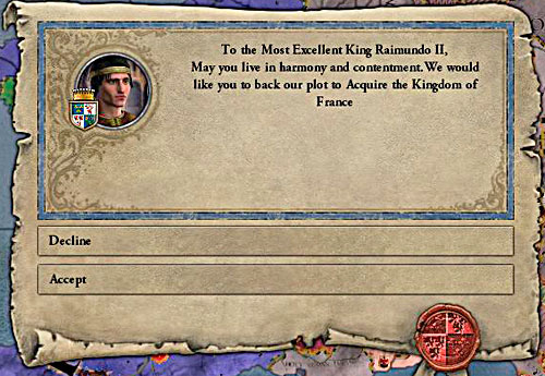 Sometimes NPC's convincing you to take a part in the war intrigue. Its worth to consider their proposition. - How to declare a war? - Military - Crusader Kings II - Game Guide and Walkthrough