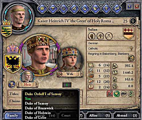 Thanks to the election you can promote from the duke straight to the emperor. - Duke - Riding on a Top - Crusader Kings II - Game Guide and Walkthrough