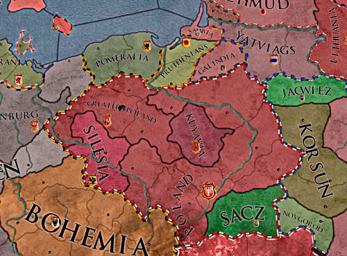 Maybe this time Greater Poland will unify the kingdom? - Duke - Riding on a Top - Crusader Kings II - Game Guide and Walkthrough