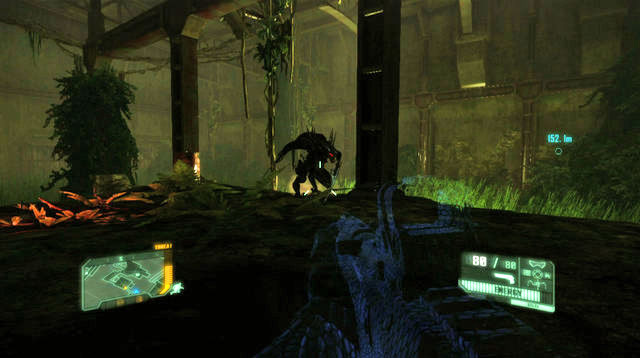After you've taken another door, and seen another cutscene,, jump down - Reach the Northern Rail Station - Welcome to the Jungle - Crysis 3 - Game Guide and Walkthrough