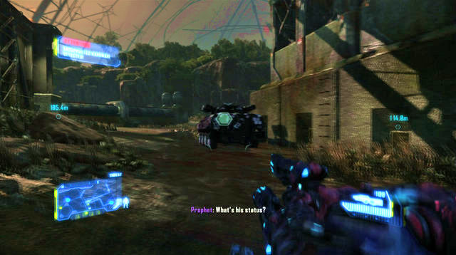On your way there, you will encounter several enemies and, underneath the pipeline, you will find an APC to get on - Reach the CELL command center - Red Star Rising - Crysis 3 - Game Guide and Walkthrough