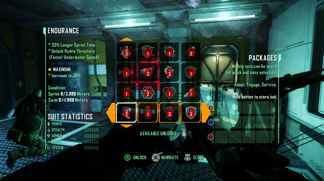 Each module can be upgraded if you meet the conditions specified on the left - Suit upgrades - Other - Crysis 3 - Game Guide and Walkthrough