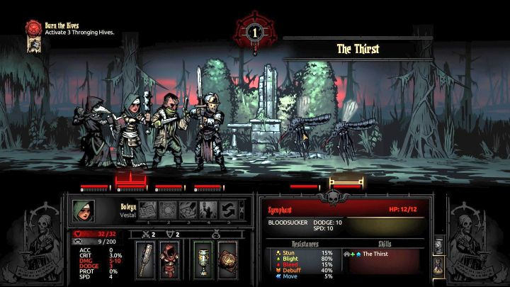The attack that can inflict the curse. - The Crimson Curse | Game mechanics | The Crimson Court - Game mechanics - Darkest Dungeon Game Guide & Walkthrough