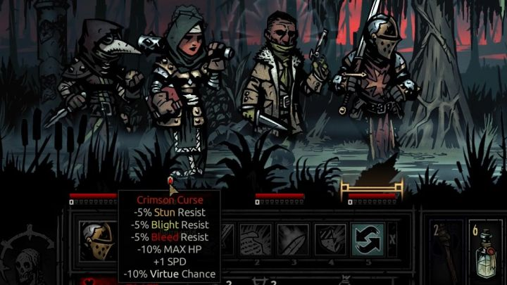 The basic stage of the curse. - The Crimson Curse | Game mechanics | The Crimson Court - Game mechanics - Darkest Dungeon Game Guide & Walkthrough