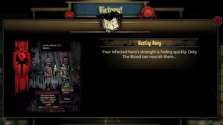 The effects of blood deprivation - The Crimson Curse | Game mechanics | The Crimson Court - Game mechanics - Darkest Dungeon Game Guide & Walkthrough