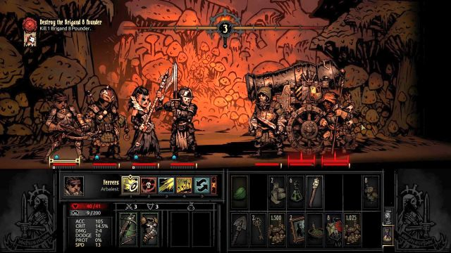 The boss and his minions in all their glory - Brigand Pounder | Bosses - Bosses - Darkest Dungeon Game Guide & Walkthrough