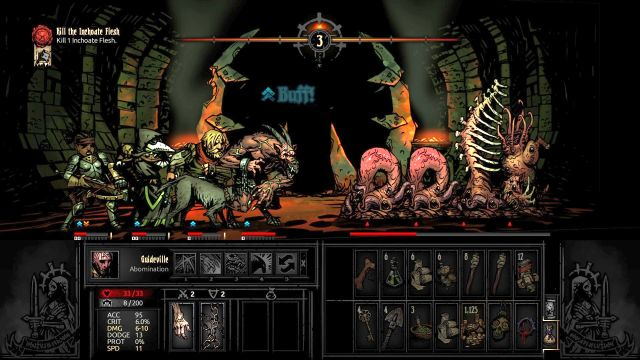 Stacking damage over time, on the enemies (Bleed, Blight) is the best tactic - Flesh | Bosses - Bosses - Darkest Dungeon Game Guide & Walkthrough